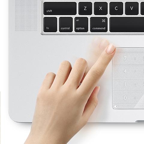 指の動きを感知する独自のアルゴリズム
