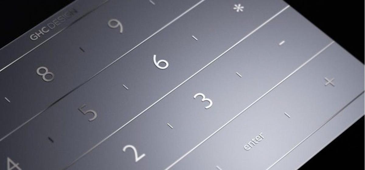 テンキーの文字はMacのデザインを損ねない、まるでMacのバンドルのアクセサリーのようなデザイン。